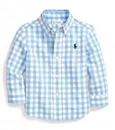 Baby Boys Blue Gingham Shirt