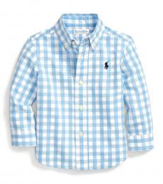 Ralph Lauren Baby Boys Blue Gingham Shirt