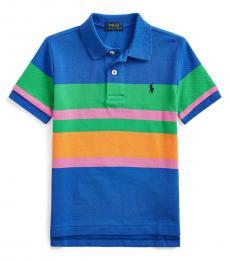 Ralph Lauren Little Boys Travel Blue Striped Polo