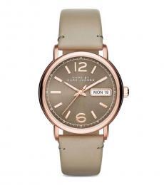 Beige Modish Watch