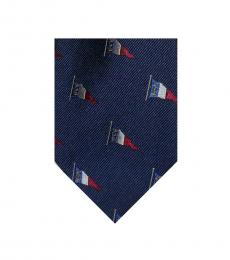 Ralph Lauren Navy Nautical Flag Tie