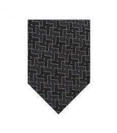 Grey Geometric Tie