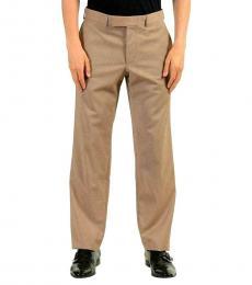 Beige Wool Dress Pants