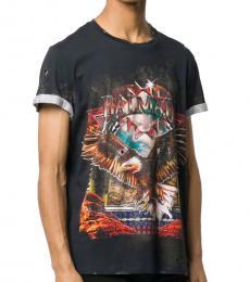 Dark Grey Vintage-Inspired Logo T-Shirt