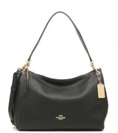 Black Mia Large Shoulder Bag