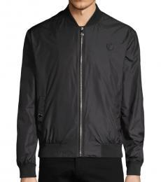 Versace Collection Black Logo Bomber Jacket