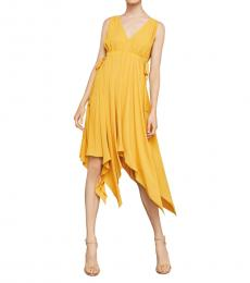 BCBGMaxazria Golden Glow Handkerchief Dress