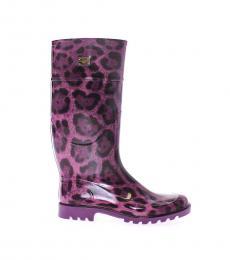 Purple Leopard print Boots