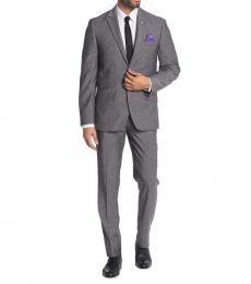 Ben Sherman Grey Notch Lapel Trim Fit Suit