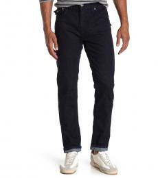 Navy Blue Rocco Flap Straight Leg Jeans