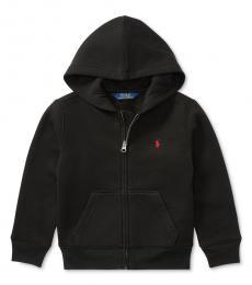 Ralph Lauren Little Boys Black Full Zip Hoodie