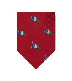 Ralph Lauren Red Nautical Flag Tie