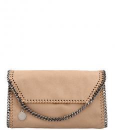 Stella McCartney Beige Falabella Small Crossbody Bag