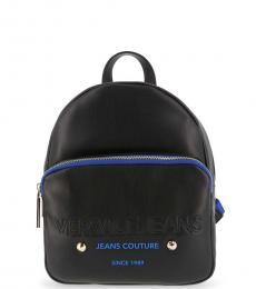 Versace Jeans Black Couture Small Backpack