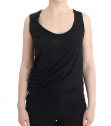Black Logo Cotton Tank Top