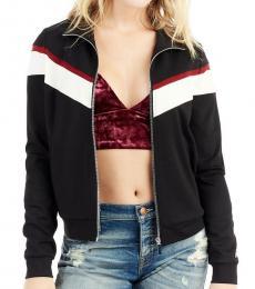 True Religion Black Retro Stripe Jacket