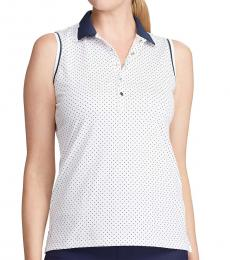 Navy Blue Sleeveless Golf Polo