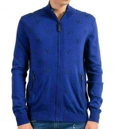 Blue Full Zip Zipper Jacket