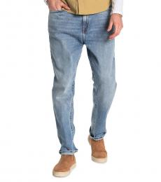 True Religion Light Blue Logan Relaxed Tapered Jeans
