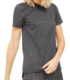 BlackWhite Micro Checkered Tunic Top
