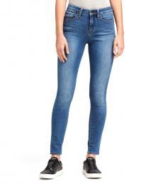 DKNY Blue High-Rise Skinny Ankle Jean