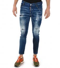 Dsquared2 Blue Vintage Effect Tidy Biker Jeans