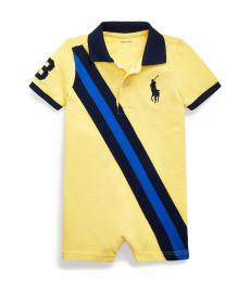Ralph Lauren Baby Boys Oasis Yellow Polo Shortall