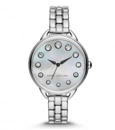 Marc Jacobs Silver Betty Crystal Watch