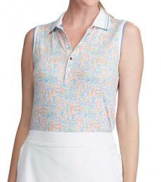 Ralph Lauren Multi color Floral Sleeveless Golf Polo
