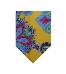 Ralph Lauren Yellow Paisley Tie
