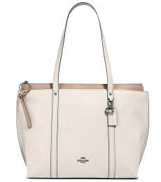 Coach White May Large Tote