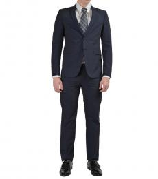 Versace Jeans Dark Blue Striped Suit