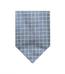 Grey Streamline Check Silk Tie