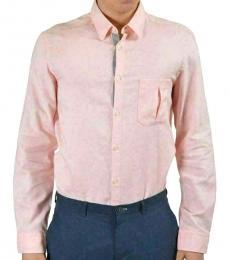 Hugo Boss Pink Modern Fit Button Down Shirt