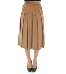 Beige Corduroy Skirt