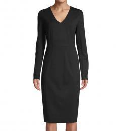 Diane Von Furstenberg Black Milena Sheath Dress