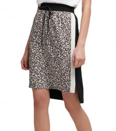 Multi color Pull On Leopard Skirt