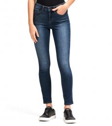 Dark Blue High-Rise Skinny Ankle Jean