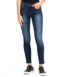 DKNY Dark Blue High-Rise Skinny Ankle Jean