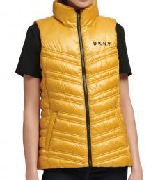 DKNY Yellow Puffer Vest