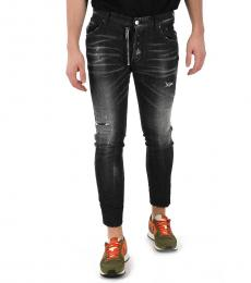 Black Distressed Skater Jeans