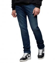 True Religion Fresh In Blue Rocco Embroidered Jeans