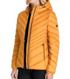 Michael Kors Marigold Hooded Packabl Puffer Jacket