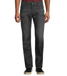 Dark Grey Safado Straight-Fit Jeans