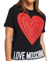 Love Moschino Black Logo Detail Top