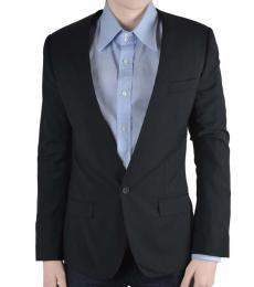 Grey Wool Striped Blazer