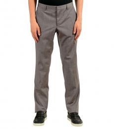 Hugo Boss Grey Wool Dress Pants