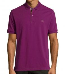 Burberry Deep Purple Check Classic Fit Polo