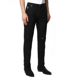 Balmain Black Straight-Leg Jeans