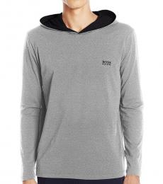 Hugo Boss Grey Premium Long Sleeve Hooded Jersey